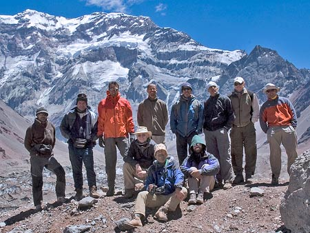 vladimir lancheres and team on aconcagua, on 7summits.com expeditions
