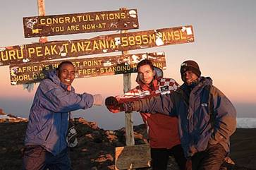 Bojan Koprivica on the summit of Kilimanjaro, 7summits.com Expeditions