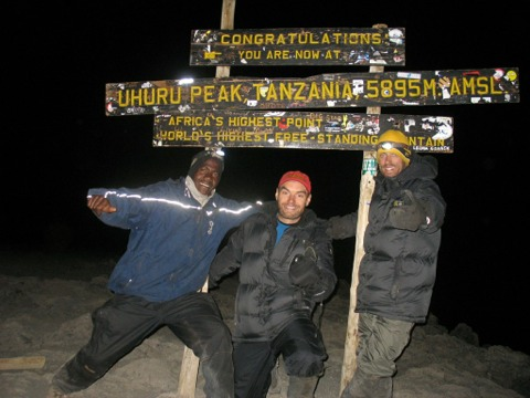 Chad hayes and Clinton Barry on Kilimanjaro Summit, 7summits expeditions