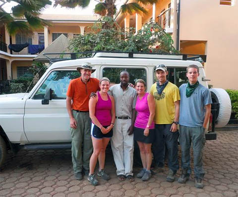 Goltermann Family going on safari after climbing Kilimanjaro on 7summits.com Expeditions trip