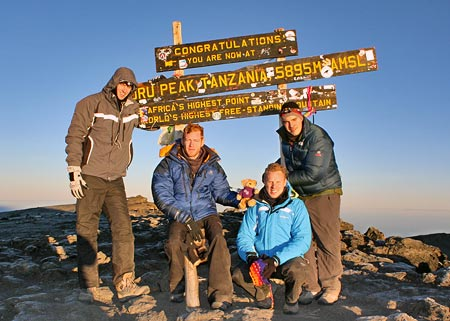 Phil Anderson on the summit of Kilimanjaro, 7summits.com Expeditions: www.7summits.com