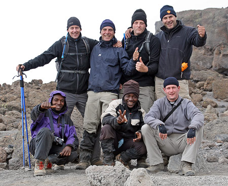 Patrick Hermans and team on Kilimanjaro, 7summits.com Expeditions