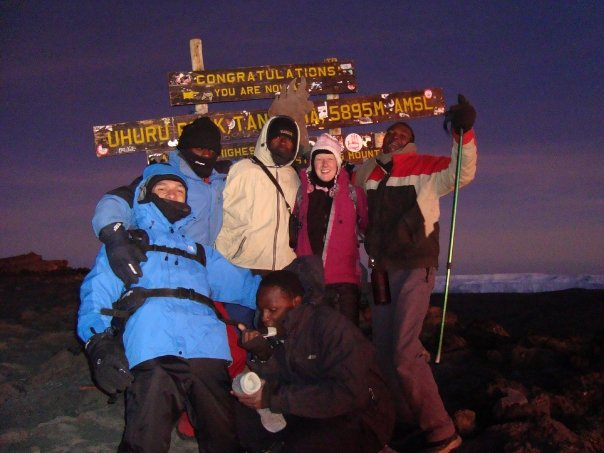 Anne McCardle on Kilimanjaro summit, 7summits.com expeditions