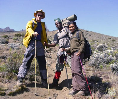 Yani fernandus and Paul and 7summits.com Expeditions Kilimanjaro guide Babu